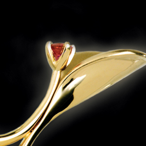 Gold Organic Pendant - 3/4 View