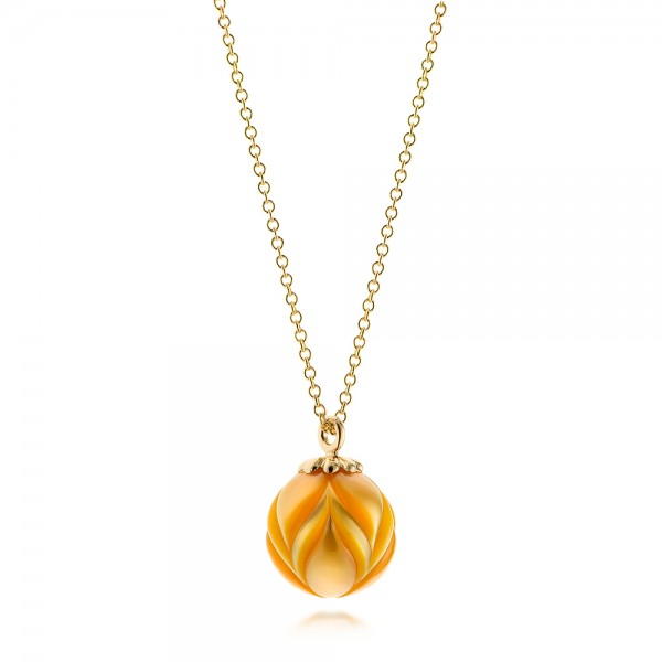 Golden Pearl Tulip Pendant - Laying View
