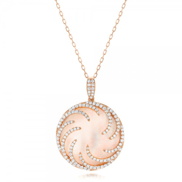 Rose Gold and Diamond Luna Fire Pendant