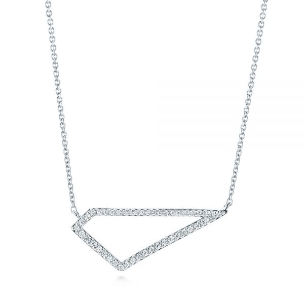 Modern Geometric Diamond Necklace