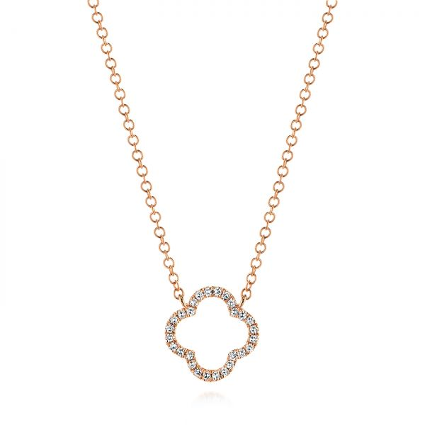 Open Clover Diamond Necklace - Image