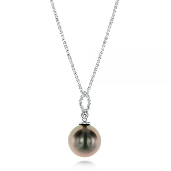 Pearl and Diamond Necklace - Image
