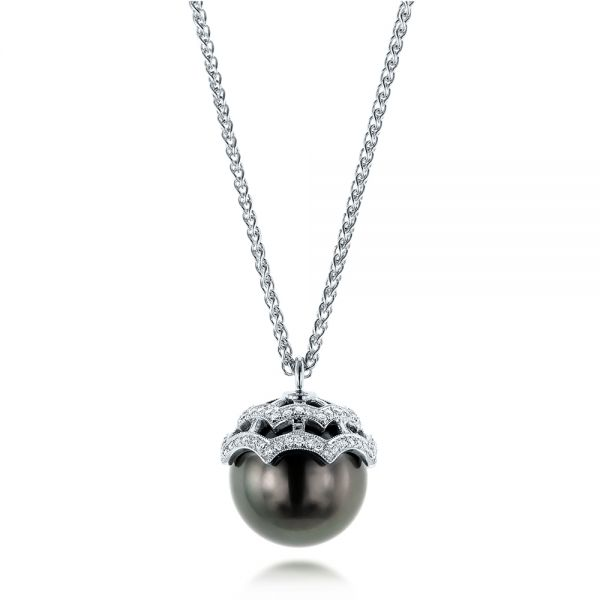 Pearl and Diamond Pendant - Image