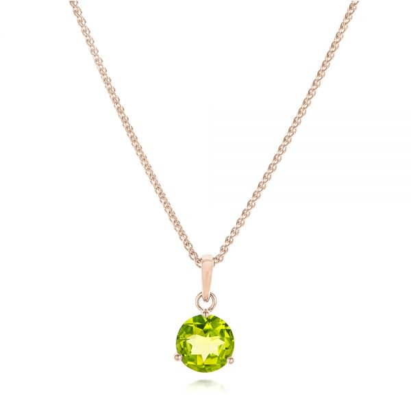 14k Rose Gold 14k Rose Gold Peridot Pendant - Three-Quarter View -  102640