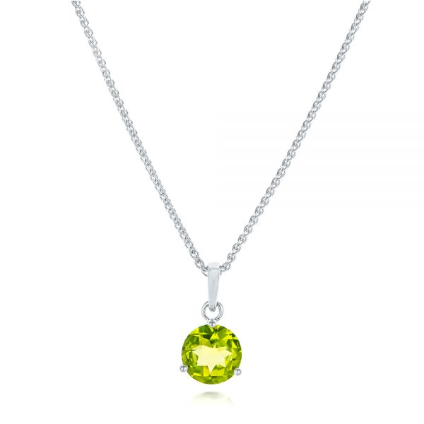 Peridot Pendant - Three-Quarter View -