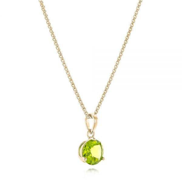 14k Yellow Gold 14k Yellow Gold Peridot Pendant - Flat View -  102640