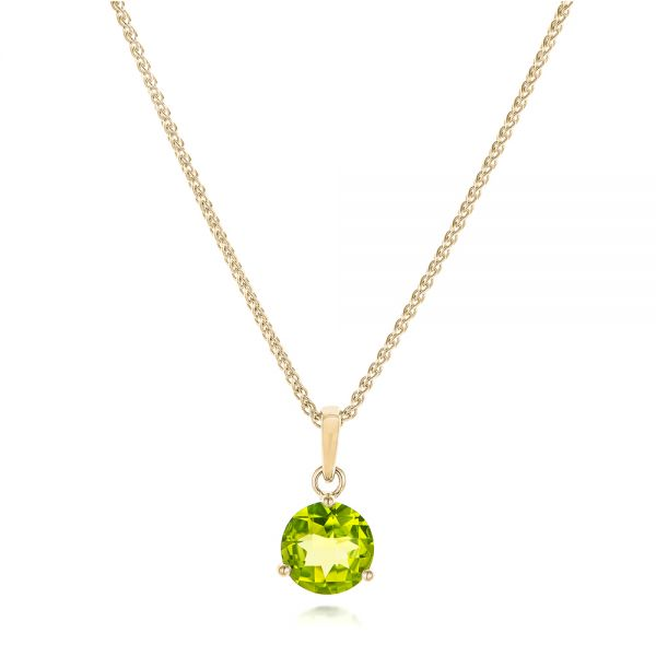 14k Yellow Gold 14k Yellow Gold Peridot Pendant - Three-Quarter View -  102640
