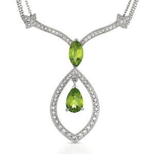 Peridot and Diamond Pendant - Vanna K