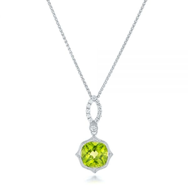 Peridot and Diamond Pendant - Image
