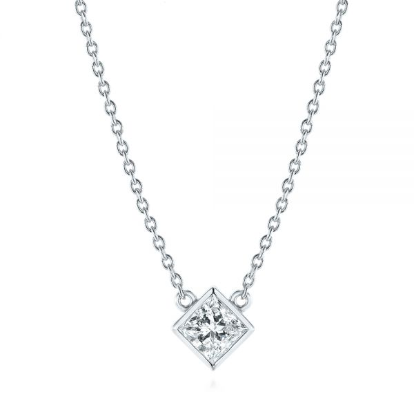 Princess Cut Diamond Solitaire Pendant - Image