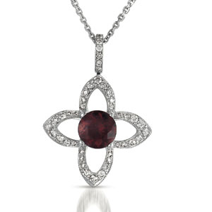 Red Tourmaline and Diamond Pendant - Vanna K