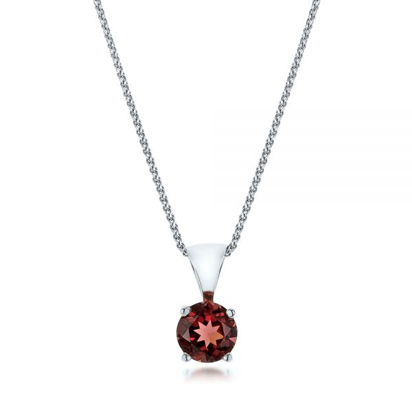 Rhodolite Pendant - Three-Quarter View -  100966