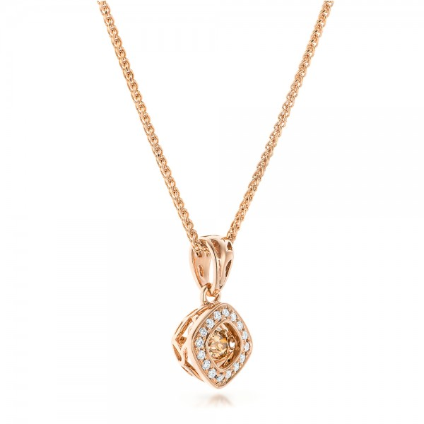 Rock'n Roll Moving Center Diamond Pendant - Laying View