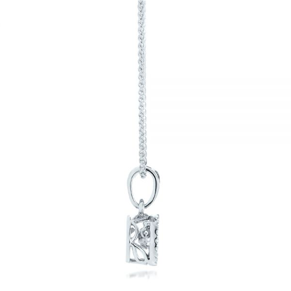 Rock'n Roll Moving Center Diamond Pendant - Side View -