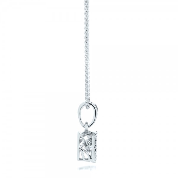 Rock'n Roll Moving Center Diamond Pendant - Side View
