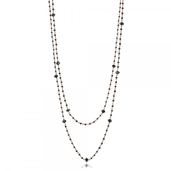 Rosary Black Diamond Necklace