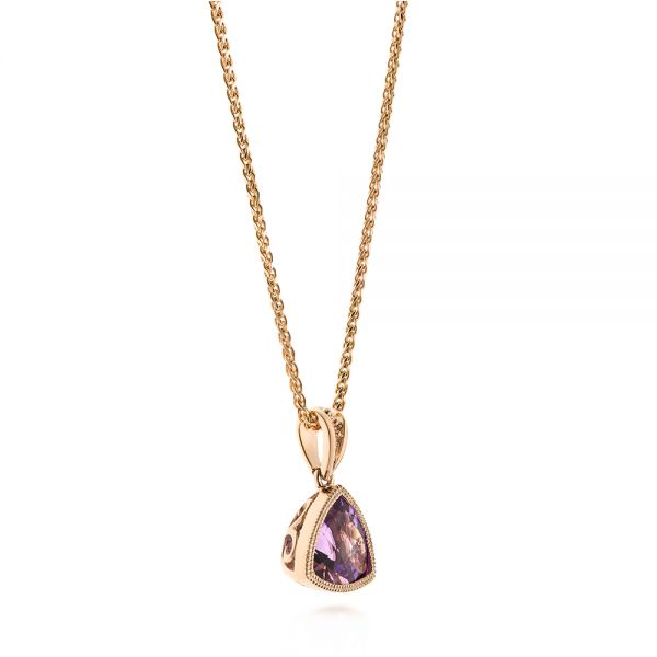 Rose Gold Amethyst Pendant - Front View -  103732 - Thumbnail