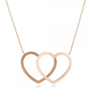 Rose Gold Hearts Pendant
