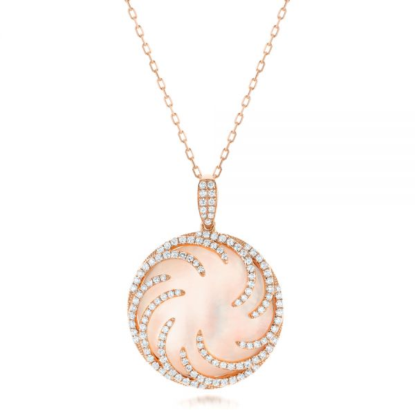 Rose Gold and Diamond Luna Fire Pendant - Image