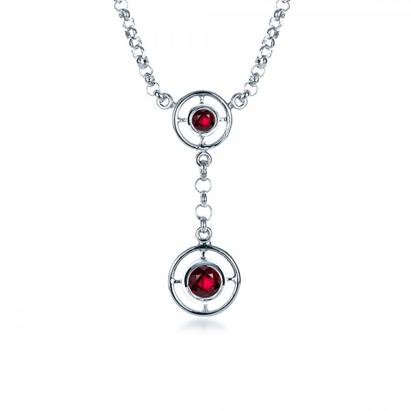 Ruby and White Gold Pendant