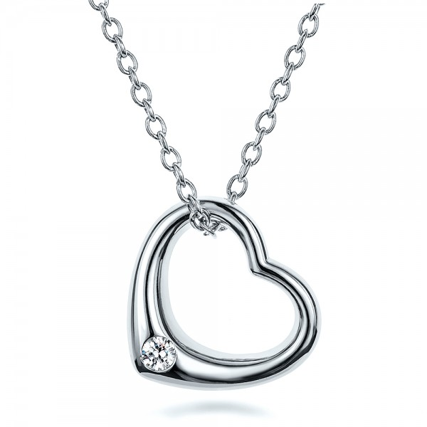 Solitaire Diamond Heart Pendant