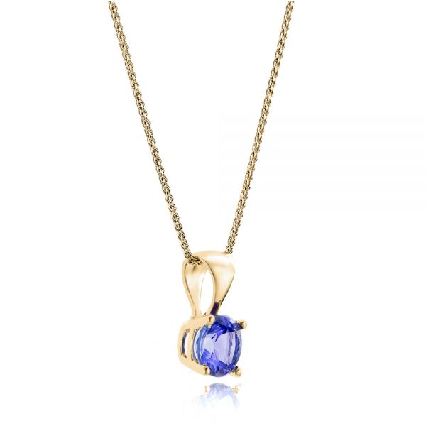 14k Yellow Gold 14k Yellow Gold Tanzanite Pendant - Flat View -  100969