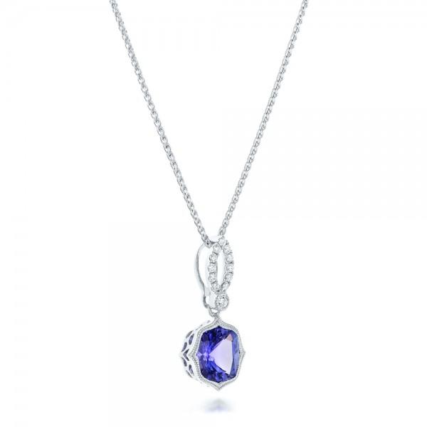 Tanzanite and Diamonds Pendant - Laying View