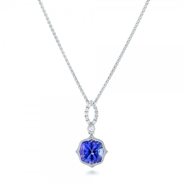 Tanzanite and Diamonds Pendant