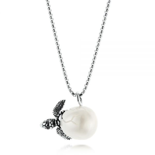 Turtle Fresh Water Pearl Necklace - Image