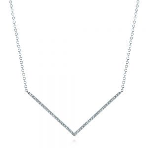 V-Shaped Diamond Necklace - Image