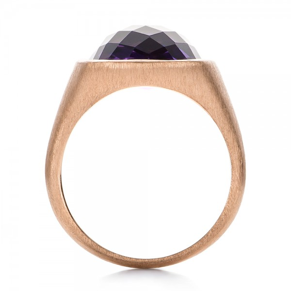 Amethyst and Rose Gold Ring - Front View -  101173 - Thumbnail