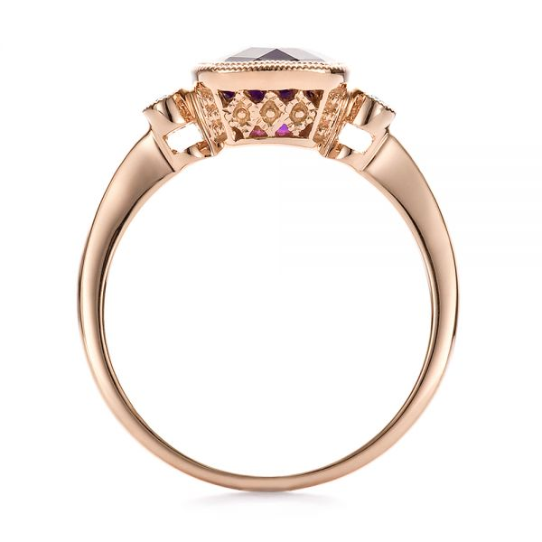 Amethyst And Diamond Ring - Front View -