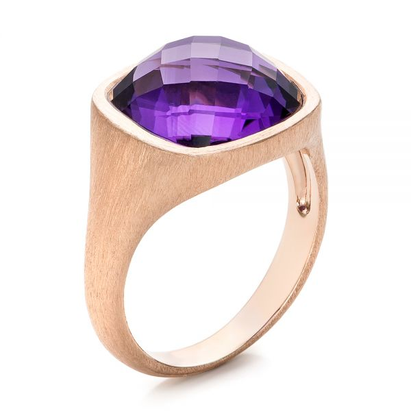 Amethyst and Rose Gold Ring