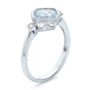 Aquamarine and Diamond Ring - Image