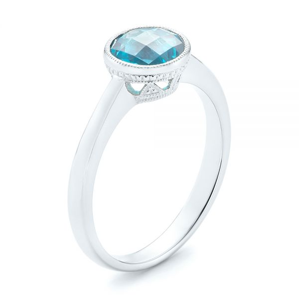 Bezel-Set Blue Topaz Ring - Image