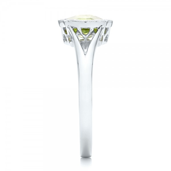 Solitaire Peridot Ring - Side View