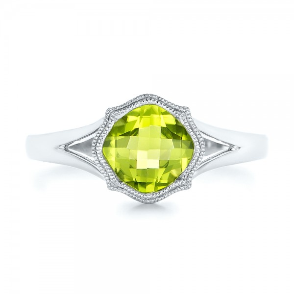Solitaire Peridot Ring - Top View
