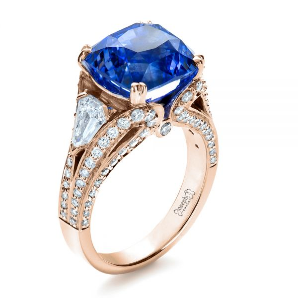Blue Sapphire and Diamond Ring - Image
