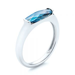 Blue Topaz Stackable Fashion Ring