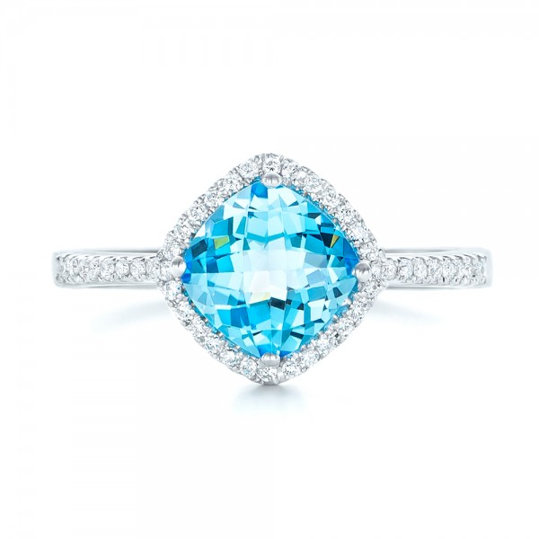 blue topaz and halo ring 102617