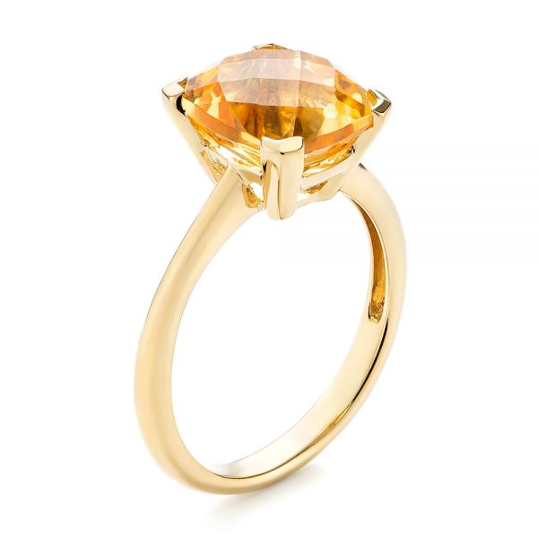 Citrine Solitaire Fashion Ring - Image