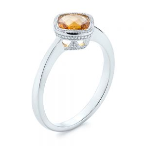 Citrine Vintage-inspired Solitaire Ring - Image