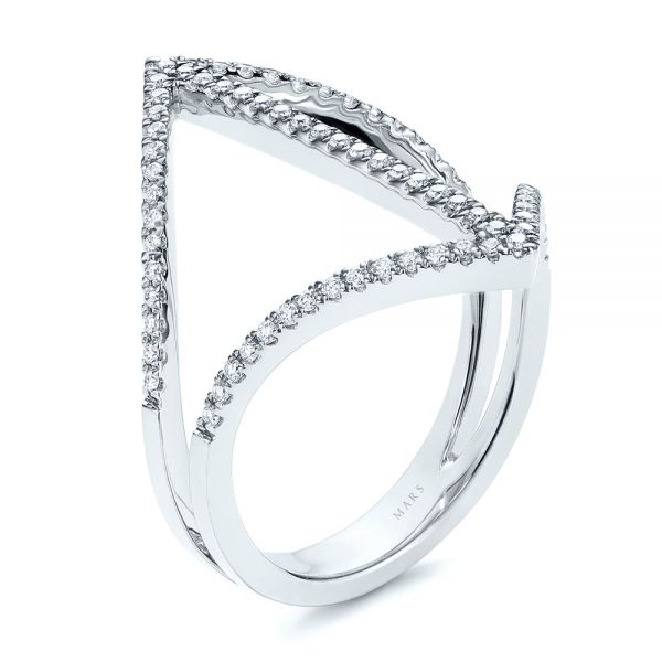 Contemporary Openwork Diamond Fashion Ring - Image