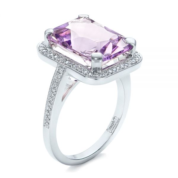 Custom Amethyst and Diamond Fashion Ring - Image