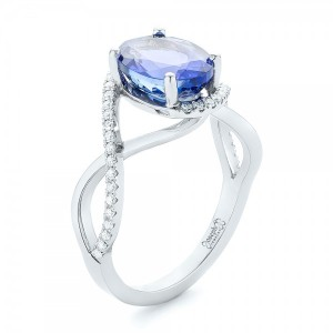 Custom Tanzanite and Diamond Fashion Ring