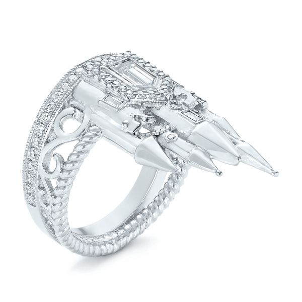Custom Castle Diamond Fashion Ring - Image