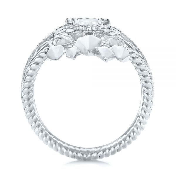 Custom Castle Diamond Fashion Ring - Front View -