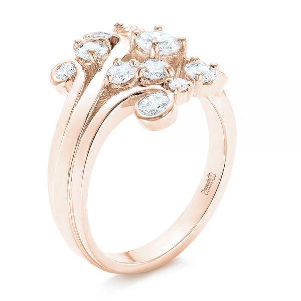 a9c13a2acdb 14K Rose Gold Custom Diamond Fashion Ring - Three-Quarter View - 102975 -  Thumbnail ...
