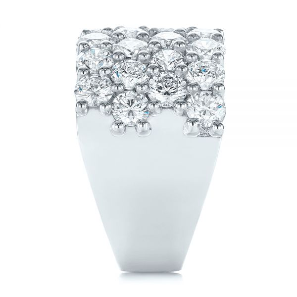 Custom Diamond Fashion Ring - Side View -  104060 - Thumbnail