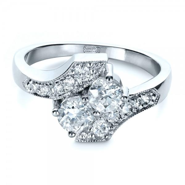 Custom Diamond Ring - Laying View